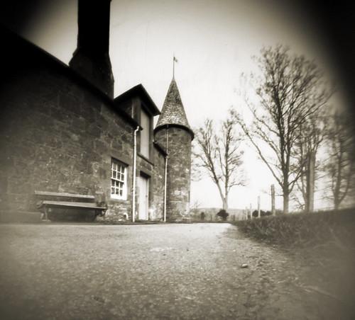 Hunterston castle pinhole image