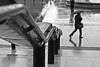 rail + rain (el_mo) Tags: sky white man black reflection london rain statue walking square day cloudy columns trafalgar rail bigben nelson nationalgallery rainy pioggia statua londra horatio nationalportraitgallery colonna riflesso