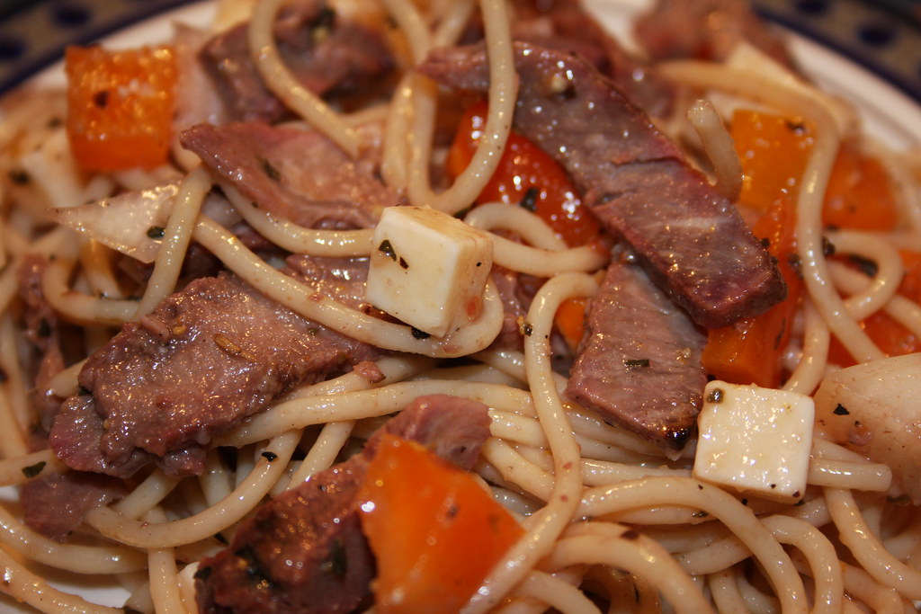 Strip and Sirloin Pasta Salad