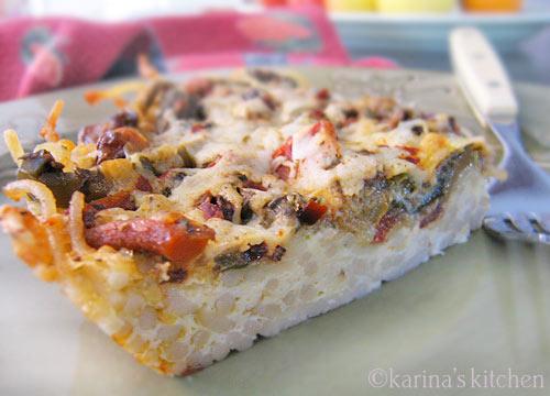 Gluten Free Pasta Frittata Recipe
