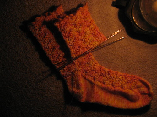 Kaibashira 2nd sock, candlelight