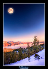 Sublime Moon (Suvrangshu) Tags: california winter sunset moon lake snow canon landscape photography big tahoe fullmoon alpine 5d sublime suv purnima chand ghosh neveda chaand suvrangshu