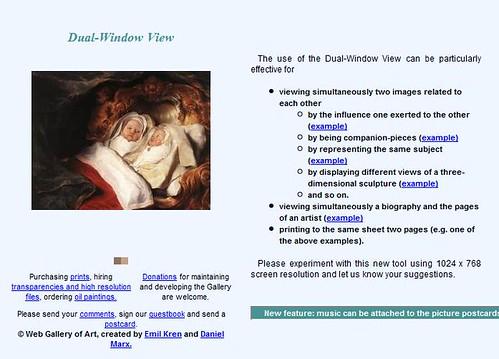 Web Gallery of Art snapshot