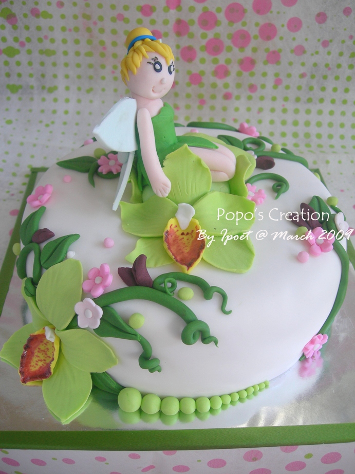 Tinkerbell with Orchid Cake