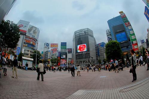 Intersection in Shibuya