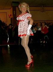 dotty (skintone) Tags: highheels singing legs laughter performer crossdresser redshoes dotty