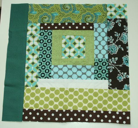 April Pieced together bee blocks