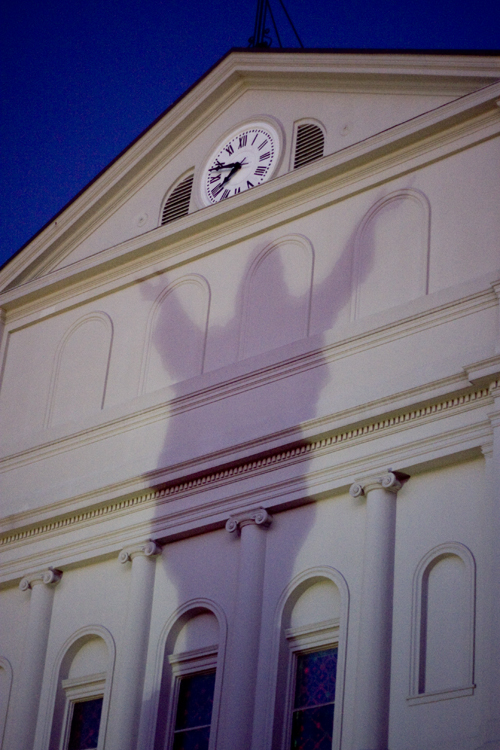 Christ shadow.