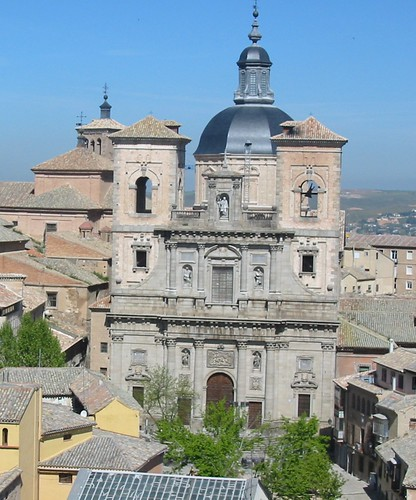 Plaza del Padre Juan de Mariana (Toledo) e Iglesia de San Ildefonso desde la torre de la Catedral