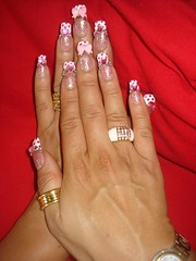 Kawaii Pink Bow Nails ~2~ (Pinky Anela) Tags: cute japanese nail kawaii hime nailart tokyostyle japanesenails princessnails
