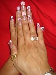 ★Kawaii Pink Bow Nails ~2~★ (Pinky Anela) Tags: cute japanese nail kawaii hime nailart tokyostyle japanesenails princessnails