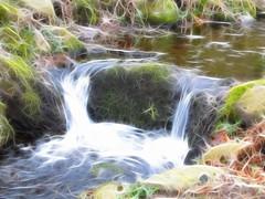 Creek Fractal (dubbelt_halvslag) Tags: longexposure light reflection art nature water norway creek photoshop stavanger plugin rogaland bck fractalius lngexponeringstid