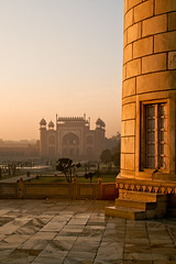 Golden Marble Taj Mahal