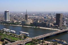 Cairo from Cairo Tower (Mohamed Haykal) Tags: travel bridge tower history river 50mm nikon f14 g egypt nile cairo mohamed cornish misr d3x haykal worldwidelandscapes