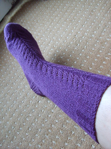 Express Lane socks - first one done!
