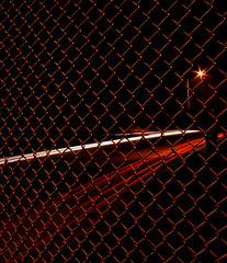 210 Fwy.. Formerly 30 Fwy in Highland, Ca (Foto-Mike) Tags: california urban metal 30 night fence long exposure sony overpass cybershot chain southern freeway empire saturation link inland 210 dscv3 fwy