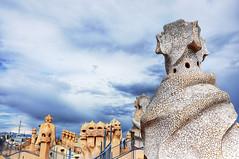 Faces of Barcelona (Faddoush) Tags: architecture casa spain nikon faces gaudi hdr lapedrera milia bracelona d90 faddoush