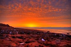Red Planet (SeeSkinner) Tags: ocean sunset beach clouds sand pentax fb atlantic pei hdr brackley k100d