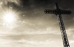God of Light (-dubliner-) Tags: sky sun iron cross flare sunburst