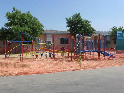 Finished Playground - Concrete Drying