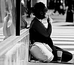the weight.. (JonathanR.) Tags: street urban bw washingtondc blackwhite candid streetlife stranger urbanjungle jonathanr