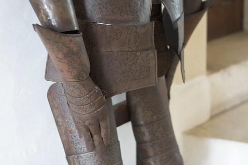 Détail d'une armure décorée
