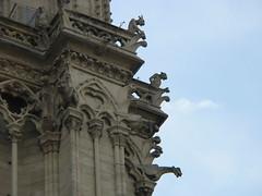 Gargoyles, Notre Dame de Paris (dlge) Tags: paris france architecture cathedrals gargoyles notredamedeparis capitals tracery exteriors pilasters