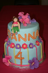 Luau Birthday Cake (irresistibledesserts) Tags: birthday flowers girl cake hawaii hula hibiscus