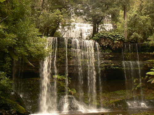 Russell Falls, Mount Field National Park near New Norfolk, Tasmania Australia
