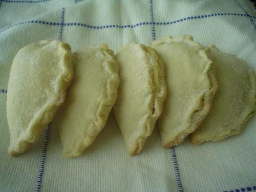Empanadas de crema pastelera