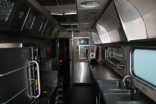 Train Chartering - Kitchen on private charter train