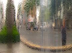 Self-portrait in fountain: Cromwell Rd