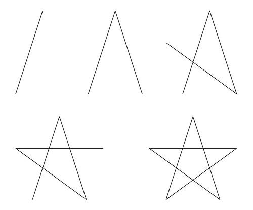 五角星的畫法
