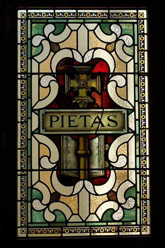 Pietas; Note the cross used to denote 'Piety'