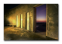 Shower curtain! (Jo-Ann Stokes) Tags: nightphotography beach photoshop shower surfers toilets photomatix outdoorshowers abigfave platinumphoto ultimateshot beachshowers abolutionblock surfershowers