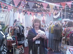 Hanging at the Southern Fibre booth