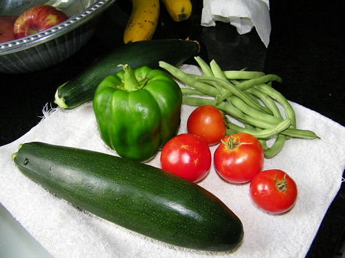 Veggies from the garden