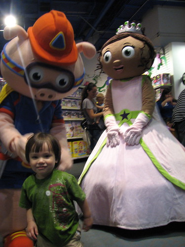 Jack with Super Why characters