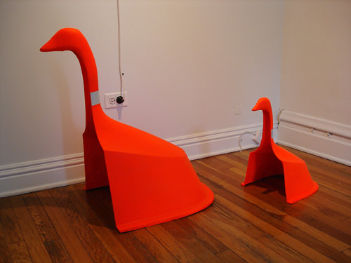 Michael Savona's redesign of orange construction cones. (Samantha Topol)