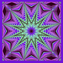 Plum and Mint K3 (CharmaineZoe) Tags: pink green art digital catchycolors purple visualarts mint kaleidoscope fractals