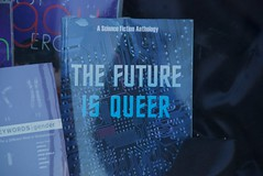The future is queer  - Modern Times (Steve Rhodes) Tags: sf sanfrancisco ca june glbt books pride bookstore mission missiondistrict queer moderntimes 2009 sanfranciscocityhall moderntimesbookstore june09 moderntimesbooks mtbs june2009