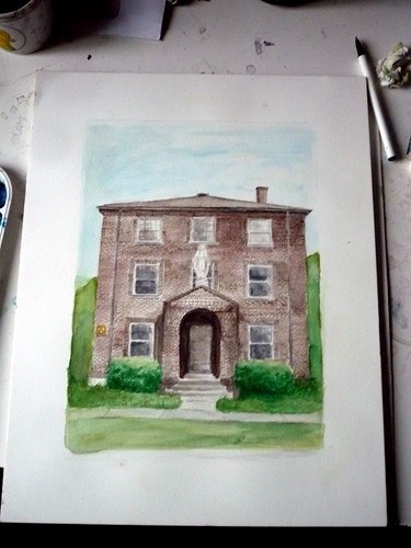 Watercolor Painting: St. Mary's Convent, Freeport, PA