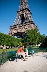 Ontbijten onder de Eiffeltoren