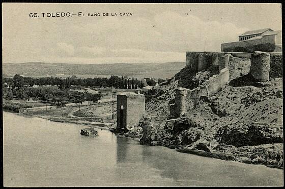 Baño de la Cava (Toledo) a principios del siglo XX. Foto Grafos