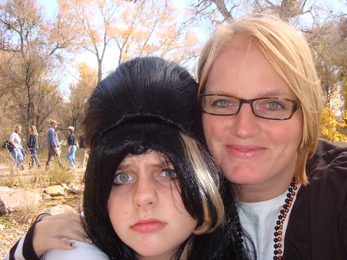 Kayley and me (she was Amy Winehouse!) at a Halloween party.