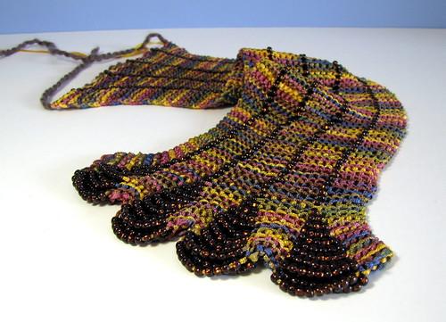 Beaded scarf WIP