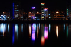 Light in Han river (Danny_Tran) Tags: light canon river landscape danang hanriver lightatnight canon400d dannytran danangcityandbeach