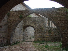 2005-09-17 10-01 Provence 333 Abbaye du Thoronet (Allie_Caulfield) Tags: 2005 autumn france fall abbey french geotagged photo highresolution frankreich flickr foto image francaise south herbst picture free pic du september cc monastery le jpg cloister provence bild romanesque jpeg geo cistercian romanic kloster francais sdfrankreich stockphoto franzsisch abbaye provencal romanisch romanik abtei zisterzienser thoronet franzsische franzsischer franzsisches zisterzienserkloster steinbogen strebepfeiler provenzalisch provencalisch