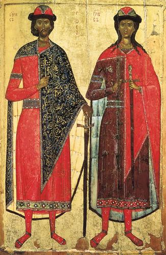 020- Los santos Boris y Gleb siglo XIV