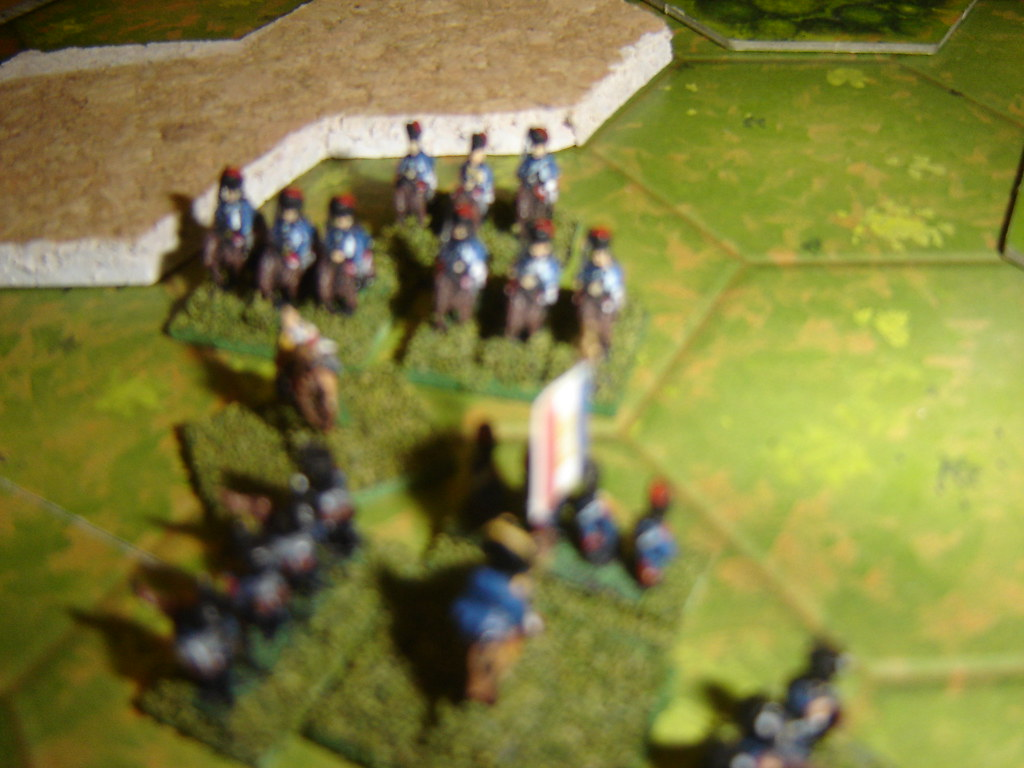 French lights form square against victorious Portuguese cavalry